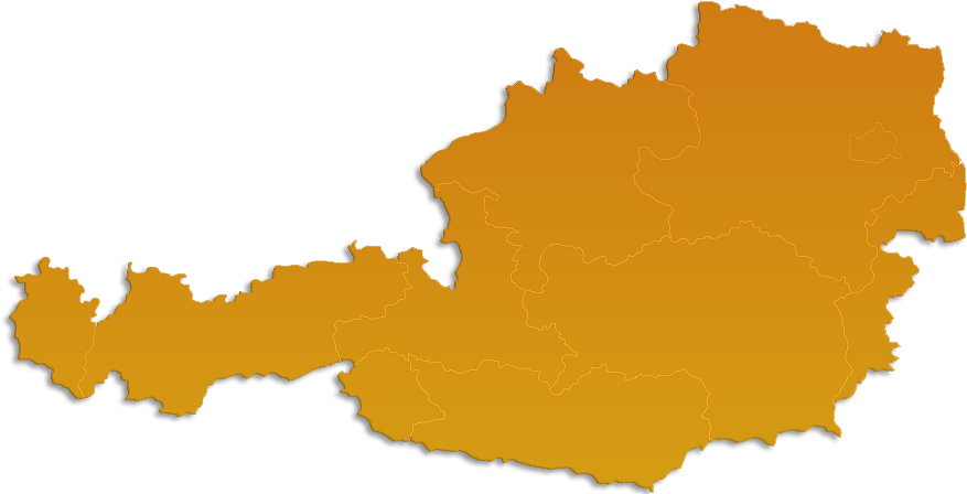 Österreich Map in Orange